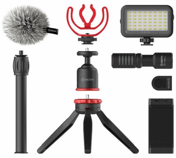 BOYA BY-VG350 Vlogging Kit + Mikrofon BY-MM1 + Smarthone Halterung + LED